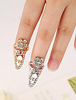 cheap -Ornaments Metallic Flower Silver Gold Rings