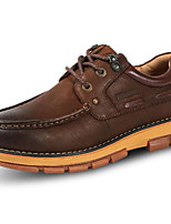 cheap -Men's Shoes Cowhide Spring Fall Comfort Oxfords for Casual Coffee Yellow