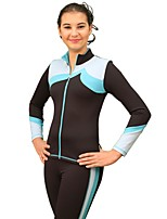 cheap -Over The Boot Figure Skating Tights Figure Skating Jacket with Pants Women's Girls' Ice Skating Pants / Trousers Tracksuit Top Blue