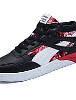 cheap -Men's Shoes Synthetic Microfiber PU PU Leatherette Spring Fall Comfort Sneakers for Casual Black/Red Black/White