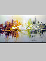 cheap -Hand-Painted Abstract Horizontal,Simple Modern Canvas Oil Painting Home Decoration One Panel