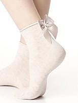 preiswerte -Herrn Damen Socken Baumwolle Solide Medium,1set Weiß Schwarz Wein