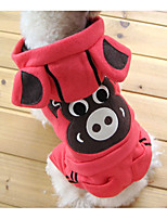 cheap -Dog Costume Hoodie Jumpsuit Dog Clothes Cute Style Trendy Christmas Stripe Animal Print Khaki Black White/Black Pink Green Costume For