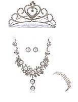 Жен. Браслет разомкнутое кольцо Свадебные комплекты ювелирных изделий Стразы европейский Мода Свадьба Для вечеринок Искусственный