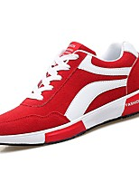 cheap -Men's Shoes PU Spring Fall Comfort Sneakers for Casual Red Dark Blue Black