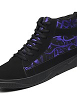 cheap -Men's Shoes Synthetic Microfiber PU Winter Fall Comfort Sneakers for Casual Black/Blue Black/Red Black/White