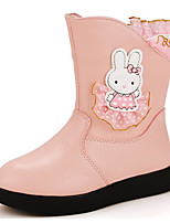 cheap -Girls' Shoes Leatherette Winter Fall Comfort Fashion Boots Boots Booties/Ankle Boots for Casual Pink Red Fuchsia