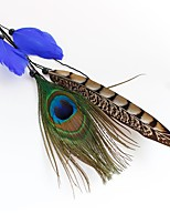 cheap -Holiday Lolita Jewelry 1920s The Great Gatsby Blue Feather Cosplay Accessories Halloween Carnival