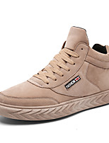 cheap -Men's Shoes Leatherette Winter Fall Comfort Sneakers for Casual Office & Career Khaki Gray Black