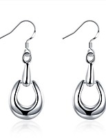cheap -Women's Hoop Earrings , Silver Jewelry Wedding Daily