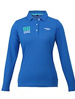 economico -Per donna Manica lunga Golf Felpa T-shirt Top Allenamento Traspirabilità Golf