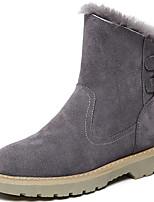 baratos -Feminino Sapatos Camurça Inverno Outono Botas Cowboy/Country Botas de Neve Coturnos Botas Raso Ponta Redonda Botas Curtas / Ankle para