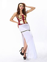 cheap -Goddess Athena Ancient Greek Costume Women's Party Costume Masquerade White Vintage Cosplay Nylon Short Sleeves Cap Floor Length