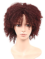 cheap -Black/Dark Wine Fashion Kinky Curly Women Synthetic Capless Wig Heat Resistant Popular Natural Looking