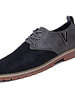 cheap -Men's Shoes Rubber Winter Fall Comfort Oxfords Walking Shoes Booties/Ankle Boots Ribbon Tie for Outdoor Brown Gray Black