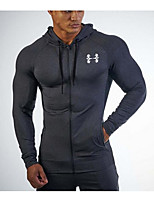 cheap -Men's Sports Hoodie Solid Hooded Micro-elastic Polyester Long Sleeve Winter Fall