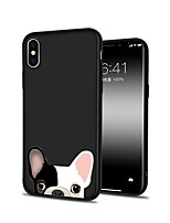 abordables -Coque Pour Apple iPhone X / iPhone 8 Plus Motif Coque Chien Flexible TPU pour iPhone X / iPhone 8 Plus / iPhone 8