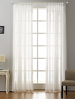 Rod Pocket Grommet Top Tab Top Double Pleat Curtain Formal Modern , Jacquard Dots Bedroom Polyester Blend Material Sheer Curtains Shades