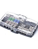 Недорогие -многофункциональный светодиодный автомагнитола с мини-мини-флип-блоком с 4-сторонним блоком предохранителей 30a 60a 80amp и распределение