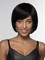 Недорогие -жен. Человеческие волосы без парики Черный Medium Auburn Medium Auburn / Bleach Blonde Средний Прямой силуэт Боковая часть