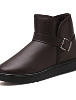 cheap -Men's Shoes PU Winter Fall Fur Lining Comfort Boots Booties/Ankle Boots for Casual Outdoor Brown Black