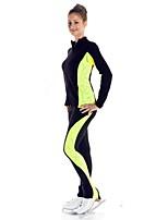 preiswerte -Über die Schlittschuhe reichende Strumpfhosen fürs Eiskunstlaufen Damen Mädchen Eislaufen Hosen/Regenhose Trainingsanzug Oberteile