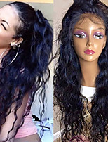 cheap -Water Wave Lace Front Wigs Brazilian Human Hair Wigs  Glueless Lace Front Wigs Virgin Hair Wigs with Baby Hair