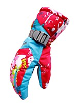 cheap -Winter Gloves Ski Gloves Women's Full-finger Gloves Keep Warm Windproof Skidproof Durable Poly&Cotton Blend PU Camping / Hiking Cycling