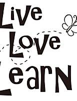 Слова и фразы Наклейки Простые наклейки Декоративные наклейки на стены,Винил Украшение дома Наклейка на стену Стена Окно