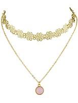 cheap -Women's Simple Basic Choker Necklace , Alloy Choker Necklace , Simple Basic Date Street