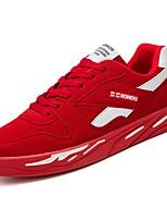 Недорогие -Для мужчин обувь Нубук Замша Кожа Весна Осень Удобная обувь Кеды для Повседневные Красный Черно-белый Черный/Красный