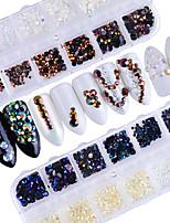 Недорогие -Гель для ногтей Роскошь Украшенный драгоценностями Как на фотографии Дизайн ногтей