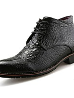 cheap -Men's Shoes PU Spring Fall Comfort Boots for Casual Red Black Gold