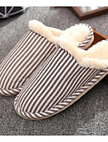 cheap -Women's Shoes Polyamide fabric Cotton Winter Comfort Slippers & Flip-Flops Flat Round Toe for Casual Red Coffee Beige