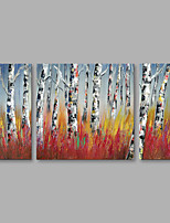 cheap -Hand-Painted Landscape Vertical,Modern Canvas Oil Painting Home Decoration Three Panels