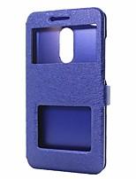 abordables -Funda Para Xiaomi Redmi Note 4X Redmi Note 4 Cartera con Soporte con Ventana Flip Funda de Cuerpo Entero Color sólido Dura Cuero de PU