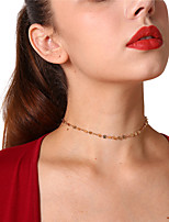 Недорогие -Жен. Круглый На каждый день Нарядная одежда Ожерелья-бархатки , Медь Ожерелья-бархатки , Для вечеринок Повседневные