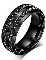 Недорогие -Муж. Жен. Классические кольца , На каждый день Классический Мода Нержавеющая сталь Геометрической формы Бижутерия Для вечеринок