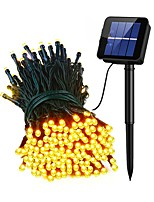 cheap -5Sets Waterproof 100LEDs Solar Powered String Light Warm White Multi Color Christmas Wedding Decoration