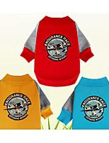 Chien Sweatshirt Vêtements pour Chien Décontracté / Quotidien Imprimé Jaune Rouge Bleu Costume Pour les animaux domestiques