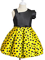 cheap -Girl's Casual/Daily Polka Dot Dress,Cotton Polyester Spring, Fall, Winter, Summer Sleeveless Simple Red Yellow