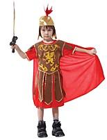 cheap -Gladiator Ancient Greece Costume Kid Costume RedYellow Vintage Cosplay Terylene Short Sleeves T-shirt Knee Length