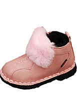 cheap -Girls' Shoes PU Winter Fall Comfort Boots Booties/Ankle Boots Pom-pom for Casual Pink Red