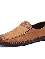 cheap -Men's Shoes Cotton Spring Fall Comfort Loafers & Slip-Ons for Casual Brown Yellow