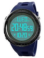 abordables -Hombre Reloj Deportivo Reloj de Pulsera Reloj digital Japonés Digital Despertador Calendario Cronógrafo Resistente al Agua Noctilucente