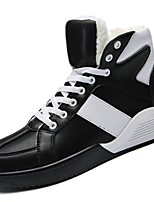 cheap -Men's Shoes Synthetic Microfiber PU Winter Fall Comfort Sneakers for Casual Black White