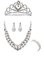 cheap -Women's Cuff Bracelet Bridal Jewelry Sets Rhinestone Fashion European Wedding Party Imitation Diamond Alloy Body Jewelry 1 Necklace 1