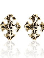 cheap -Cross Golden Cufflinks Copper Asian Casual Daily Formal Men's Costume Jewelry