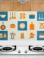 Недорогие -Высокое качество Кухня Маслонепроницаемые наклейки,Алюминий 45*75