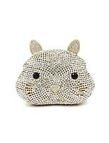 preiswerte -Damen Taschen Metall Abendtasche Kristall Verzierung für Hochzeit Veranstaltung / Fest Alle Jahreszeiten Silber